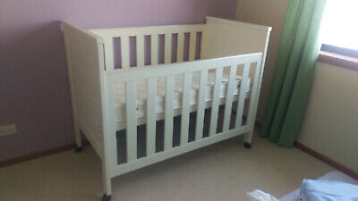 Grotime Cot with Mattress (White)