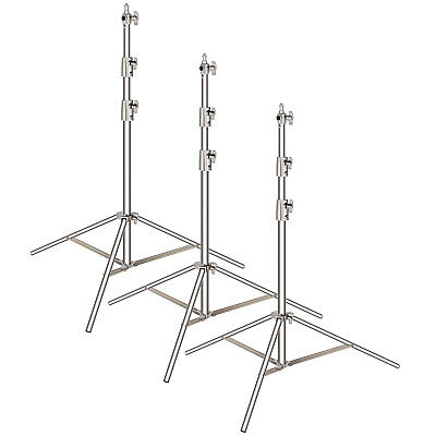 Neewer 3-pack Stainless Steel Foldable Light Stand with Universal Adapter