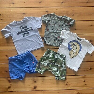 Rock Your Kid Zara Boys Tees Tops Shorts Size 2 / 18-24 Excellent Condition