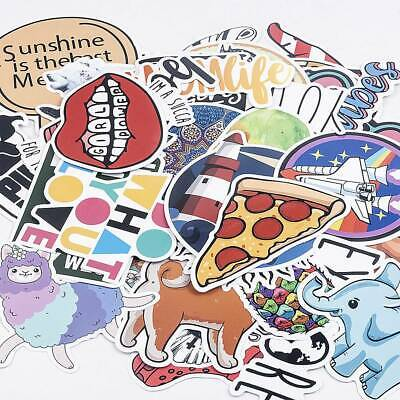 40Pcs Funny Skateboard Stickers Vinyl Laptop Luggage Guitar Decals Stickers Hot