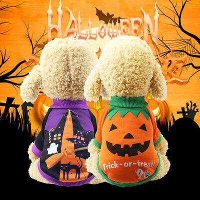 UK Pet Dog Pumpkin Suit Halloween Costume Party Clothes For Puppy Cat A2162