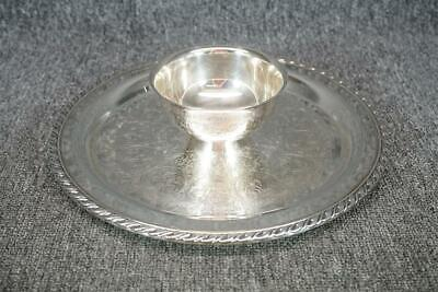 WM A Rogers Silver Plate Chip And Dip Tray 12.5""