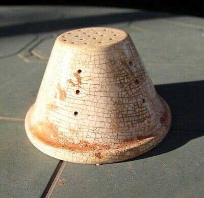Antique ceramic strainer (possibly for cheese)