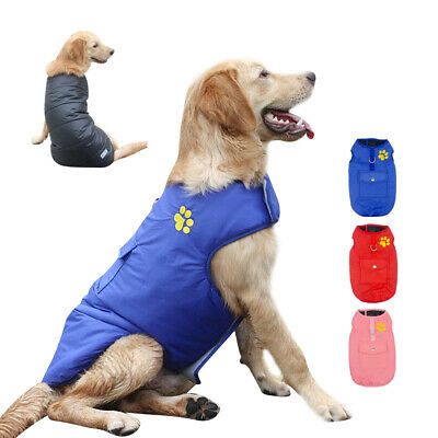 Dog Clothes for Big Dogs Waterproof Winter Coat Pet Doggie Jacket Pitbull XS-3XL