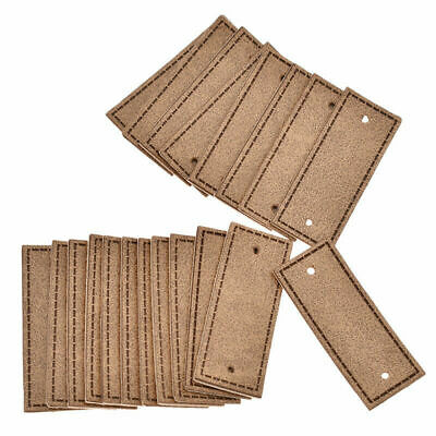 20Pcs PU Leather Labels Handmade Blank Tags  for Garment DIY Sewing