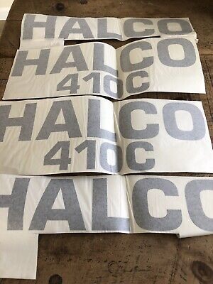 4 HALCO 410C DRILLING RIG DECALS SOLD ONE LOT IN BLACK 475mmX100mm , 475mmX168mm