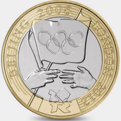 2008 £2 Olympic Games Handover Beijing Two Pound Coin Hunt  Rare