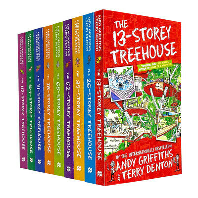 The 13-Storey Treehouse Collection 9 Books Set By Andy Griffiths & Terry Denton