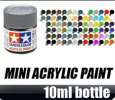 Tamiya Paint listing XF01-XF86 and X01-35 10ml Modelling Acrylic Paint