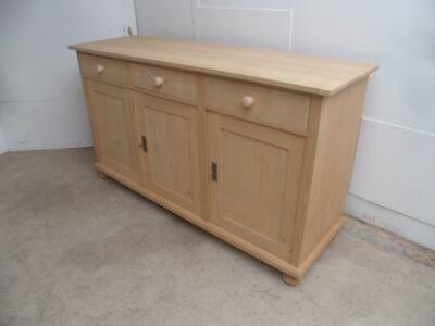 A Quality 3 Door 3 Drawer Reclaimed Pine Dresser Base/TV Stand to Wax/Paint