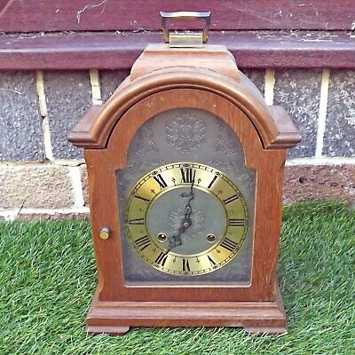 Vintage Hermle 130-020 1982? Ting Tang Strike Mantle Clock - German - For Repair