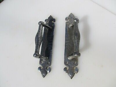 """Iron Door Handles Church Pulls Antique STYLE Old Gothic Medieval Old 10"""""""