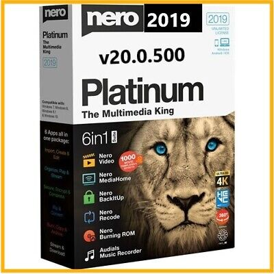 Nero Platinum 2019 Suite v20(32/64)🔐with Activator For Lifetime + video guide🔓