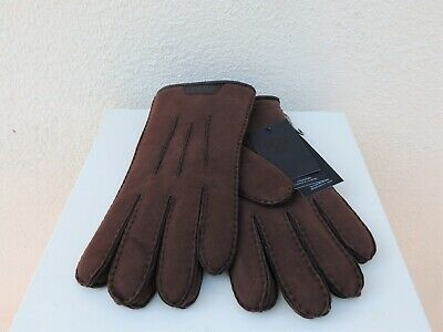 Ugg Men Casual Sheepskin Glove With Leather Logo Gloves ~ Large ~ Nwt