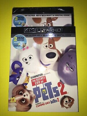 The Secret Life of Pets 2 4K ( 4K UHD/Blu-ray/Digital ) with Slipcover 2019
