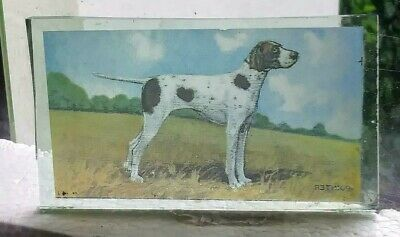 Stained Glass Pointer dog - Kiln fired fragment  pane!