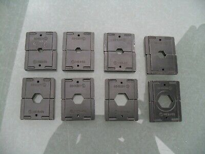 8 x Cembre dies 10mm2 to 120mm2 for HT51 B50 B51 RH50 hydraulic crimping tools.