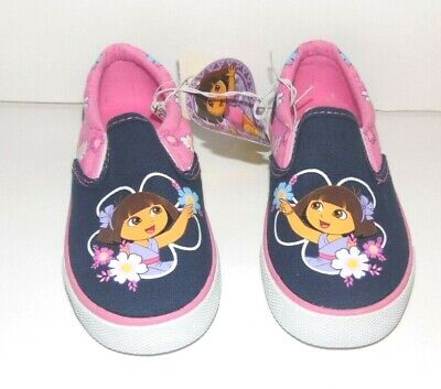 Dora the Explorer Toddler Girls Canvas Shoes Size 9 NWT