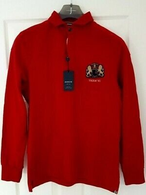 House of Fraser HOWICK RUGBY Shirt Size Small Mens BNWT's Cotton
