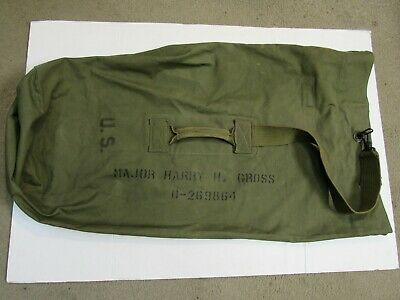US WW2 Duffel Bag Officer Named Dated 1944 AMERICAN CANVAS MFG CO