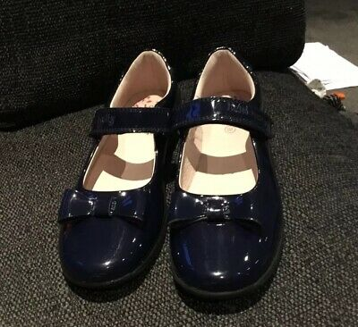 DE01 Perrie Navy Patent Leather School Shoes G Fitting Lelli Kelly LK8246