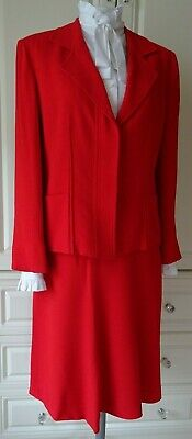1980's SONIA RYKIEL PARIS LIPSTICK  RED SUIT SIZE 38 UK 10