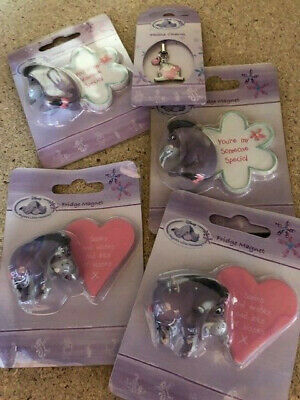 Job Lot wholesale Disney Eeyore 4 x Magnets and 1 Phone Charm