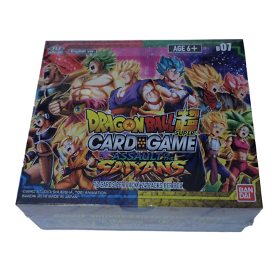 Dragon Ball Super - Assault of the Saiyans Booster Box with Dash Packs