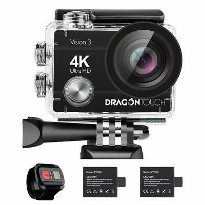 Drago Touch 4K Action Camera, 16MP Vision 3 Underwater Waterproof Camera 170°