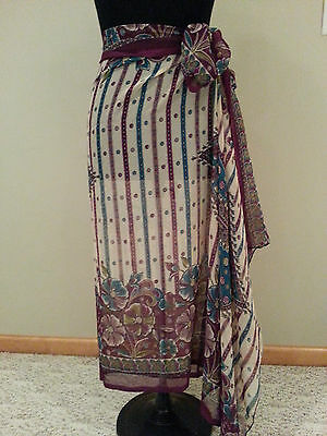 Woman purple Bathing Suit Wrap Cover Skirt One Size modest swimming swim suit