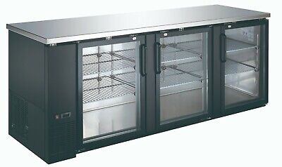Back Bar Commercial Refrigerator 27 Inches In Depth with Glass  Cooler