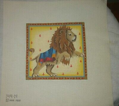 Melissa Shirley Designs Hand-painted Needlepoint Canvas 2-Sided Asian Santa