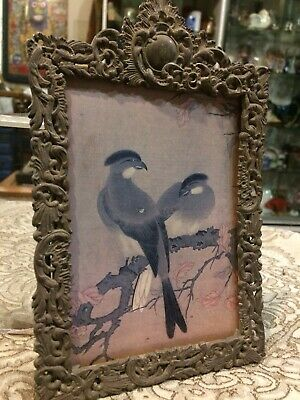 Vintage Antique Victorian Shabby Chic Silver Plate Ornate Picture Photo Frame