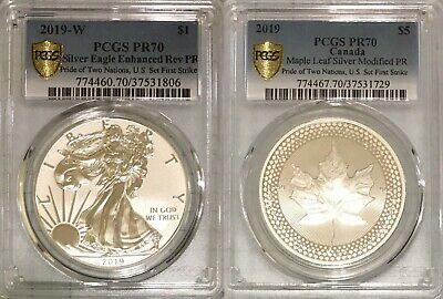 2019 Pride of Two Nations PCGS PR70 Limited Edition Two-Coin Set First Strike