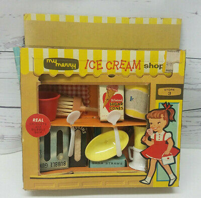 Vintage My Merry Ice Cream Shop Doll House Advertising Miniatures ST3:59 Store 3