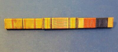 WW2 PACIFIC U.S. NAVY/ARMY 3 RIBBON MEDAL BAR MILITARY PIN w/SAFETY CLASP