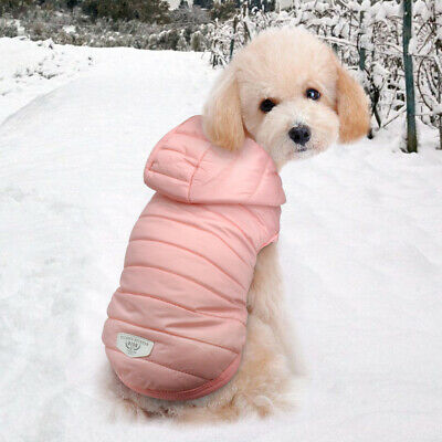 Extra Small Dog Clothes Chihuahua Coats for Winter Pink Puppy Cat Jacket Hoodie