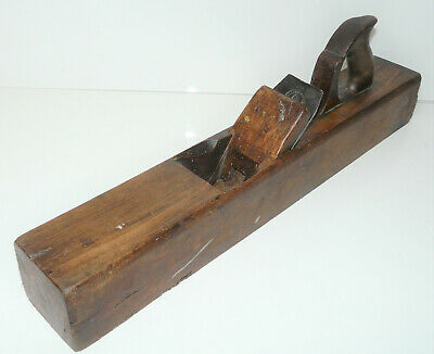 """Vintage 22"""" Wooden Joiner Plane w/ Moulson Brothers Blade INV13784"""