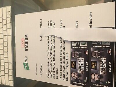 UFC 243 Tickets VIP RINGSIDE