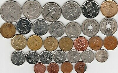 31 different world coins from FIJI
