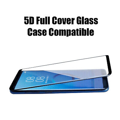 Tempered Glass Screen Protector Cover for SAMSUNG Galaxy S8 - 5D Black