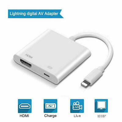 1080P Lightning To HDMI Digital AV TV Cable Adapter For iPad iPhone 6/7/8 Plus X