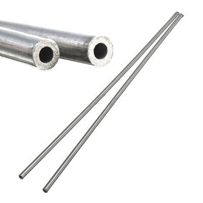 2pcs 304 Stainless Steel Capillary Tube Straight Pipe 3mm ID 4mm OD Length 250mm