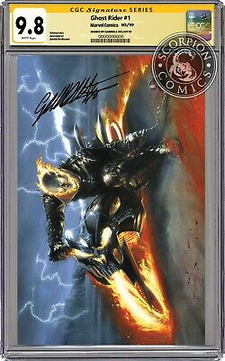 Ghost Rider 1 Exclusive Virgin Variant Cgc 9.8 Ss Signed Gabriele Dell'otto Coa