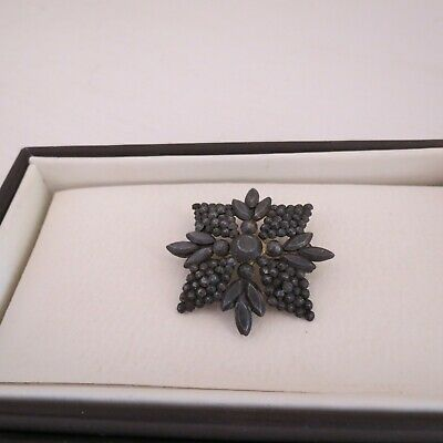 Antique Georgian/Victorian cut steel brooch
