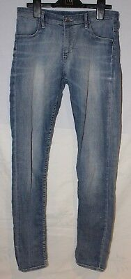 H&M teen Girls AGE 13-14 washed out blue denim skinny fit jeans soft lightweight
