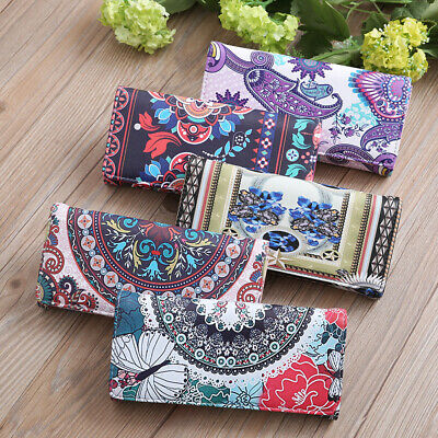 AU Women Floral Printed Wallet Long Purse Phone Holder Card Lady Clutch Handbag