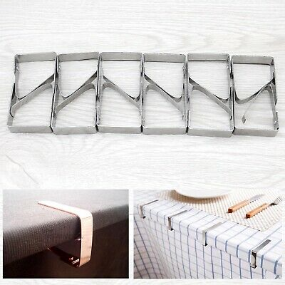 12pcs Stainless Steel Tablecloth Clips Holder Clamps for Wedding Party
