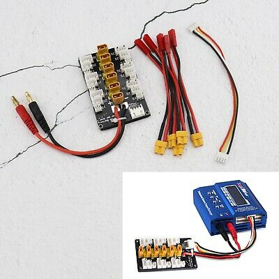 8pcs 1S 2S 3S Balance Charge Parallel Charging Board Kit with Connect Cable