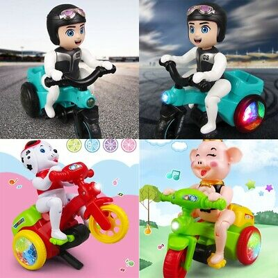 Children Cartoon Music Lighting Electric Tricycle Toy Cardan Stunt Tricycle Toy